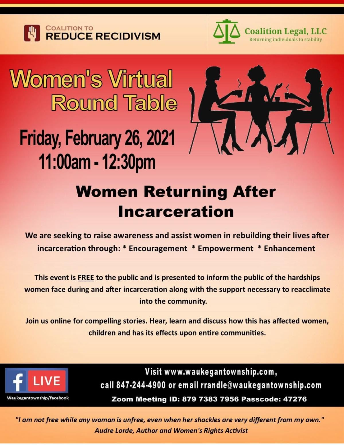 Women returning after incarceration
