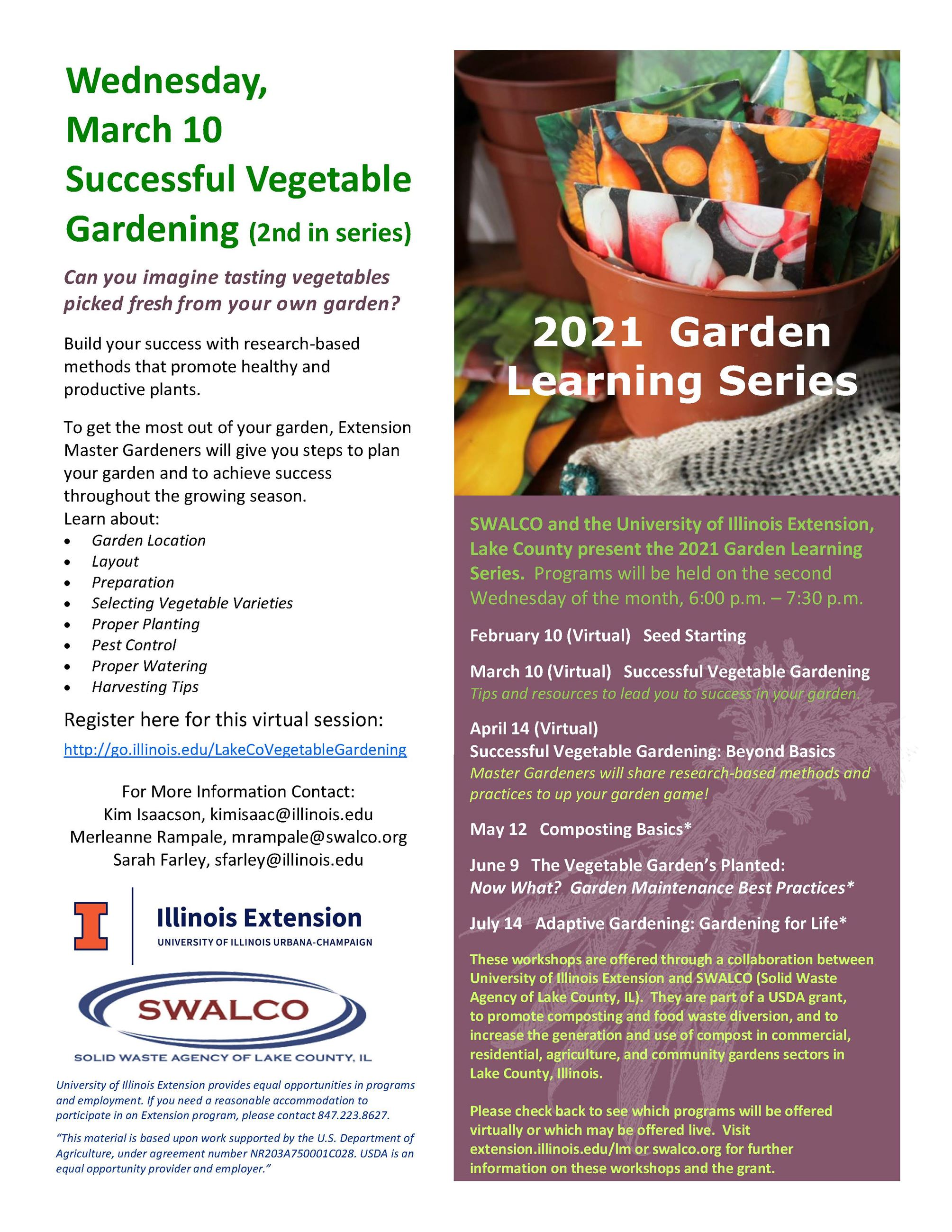2021 Gardening Series March UIE and SWALCO