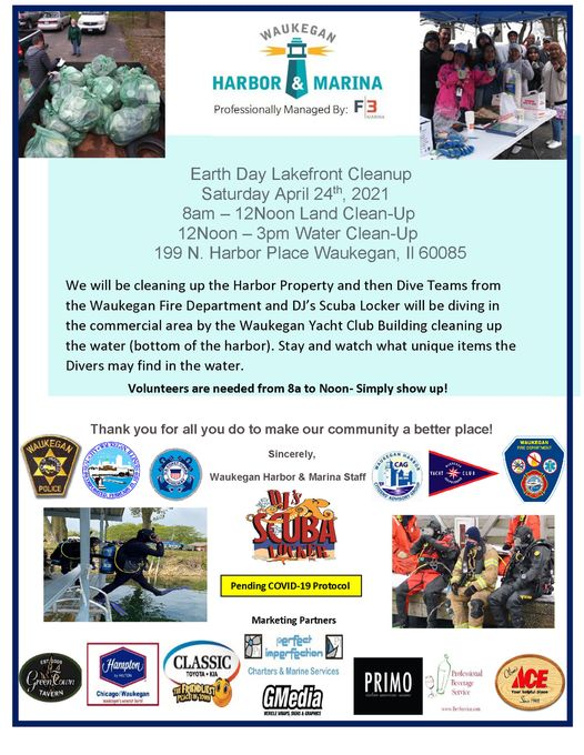 Waukegan Harbor Earth Day Clean Up