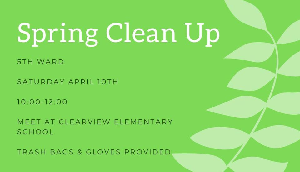 5th Ward Spring Cleanup