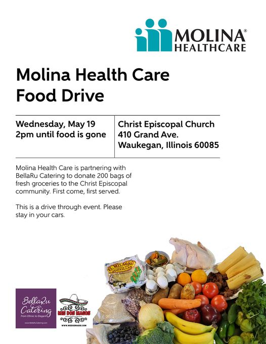 Molina Health Care and BellaRu Catering Food Distribution May 19