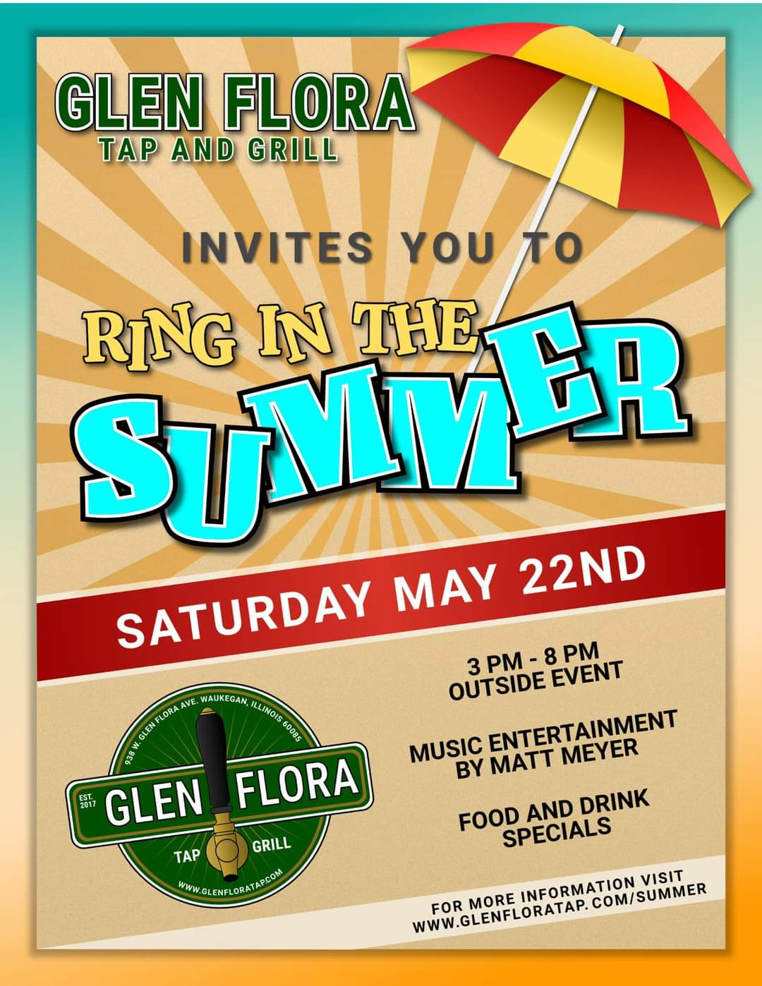 Ring in the Summer at Glen Flora Tap